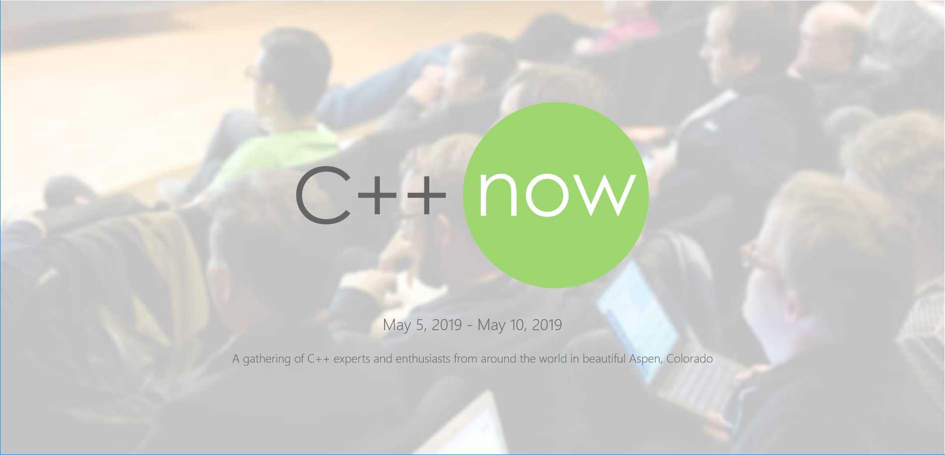 C++Now 2019