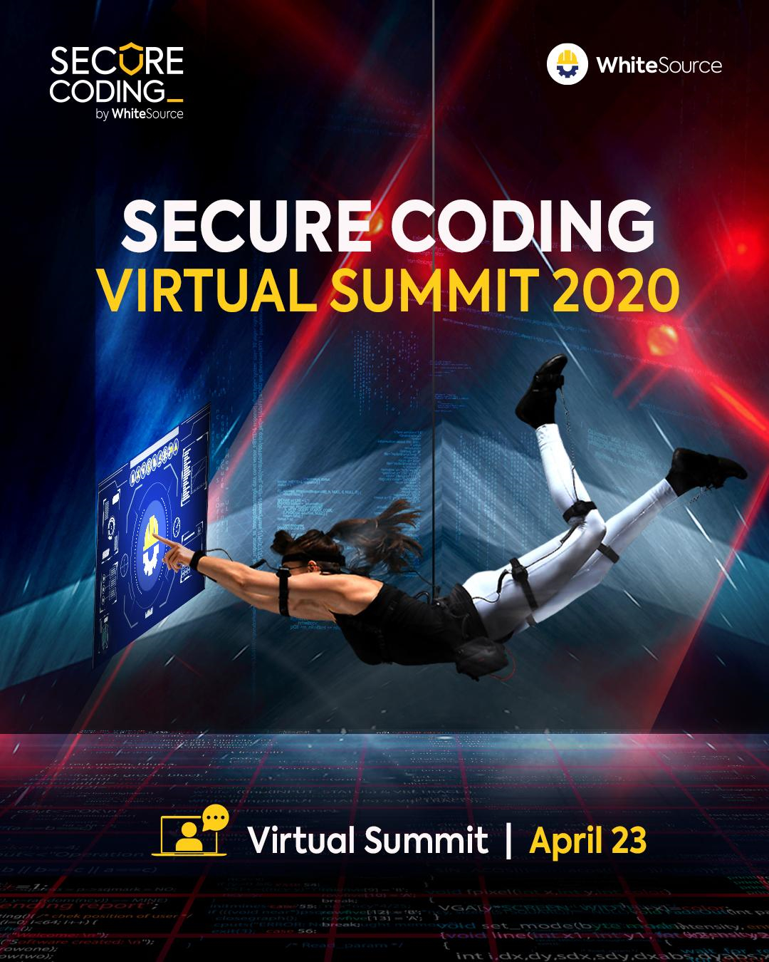 I Will Be Speaking At The WhiteSource Secure Coding Virtual Summit